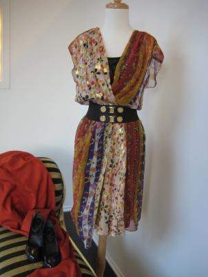 A Stunning dress from Diane Von Furstenberg with Streets Ahead Belt