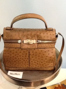 Beautiful Max Mara Ostrich Margaux Handbag  $1,500